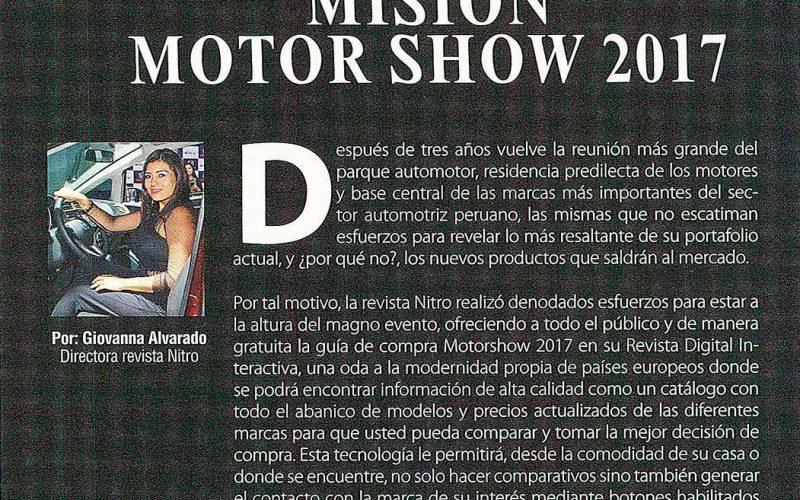Misión Motorshow 2017