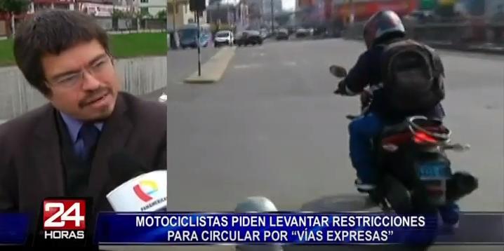 Motociclistas piden levantar restricciones para circular por Vía Expresa