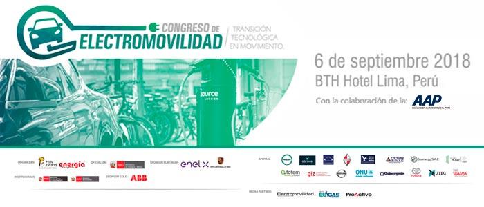 Asociación Automotriz del Perú participará del Congreso de Electromovilidad