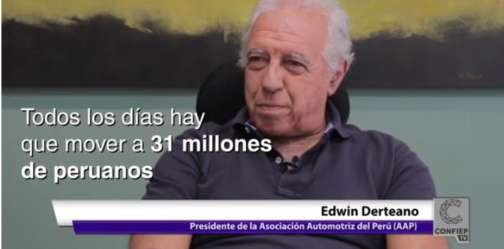 Entrevista sobre cómo lograr un transporte eficiente en Perú, a Edwin Derteano, presidente de la AAP