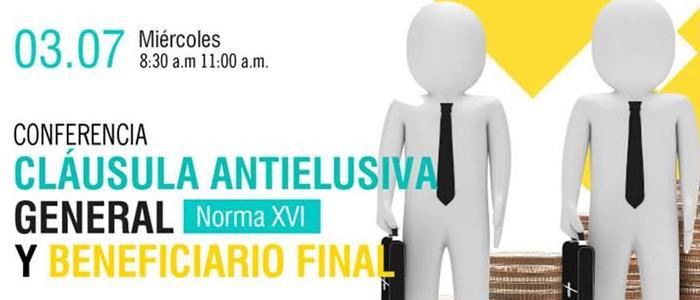 Conferencia: Cláusula Antielusiva y Beneficiario Final