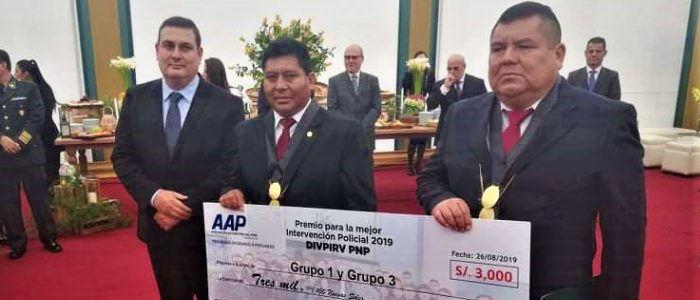 AAP entrega reconocimiento a policías destacados de la DIVPIRV