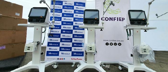 EsSalud recibe 10 ventiladores mecánicos de la CONFIEP para reforzar atención COVID-19