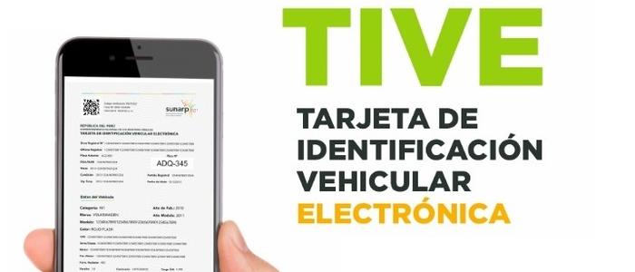Ministerio de Justicia y Derechos Humanos y la Sunarp presentan la Tarjeta de Identificación Vehicular Electrónica (TIVE)