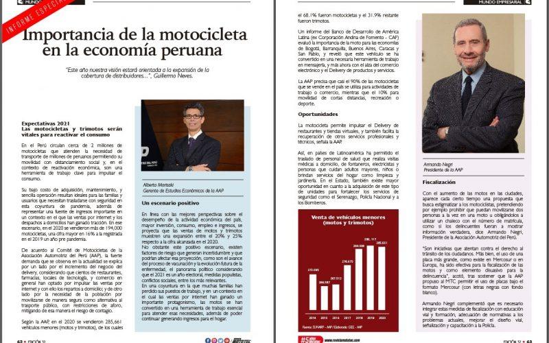 Importancia de la motocicleta en la economía peruana