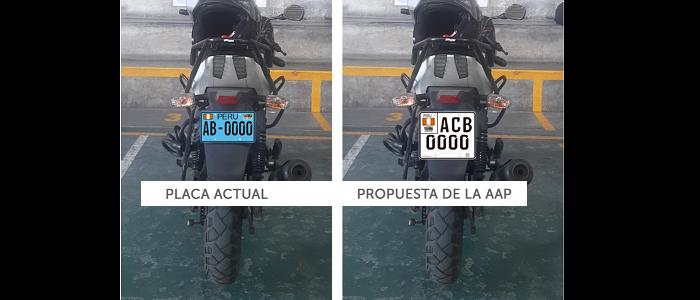 AAP propone placas de motos más grandes para mejorar fiscalización y seguridad